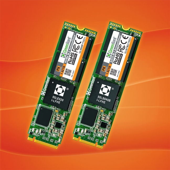 Greenliant Ships Industrial Temperature 2TB NVMe and SATA M.2 ArmourDrive™ SSDs