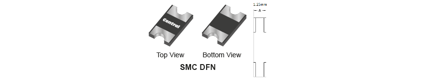Central Semiconductor New Product Launch – Schottky Rectifiers in low profile 1.25mm SMC DFN package